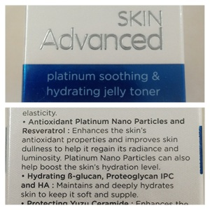 Cosmetic bought in Asia which specifically labeled nanoplatinum as an ingredient