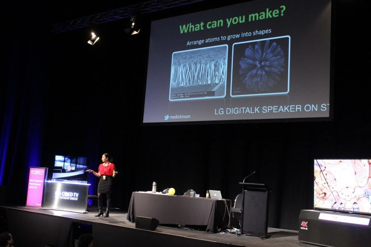 Giving my talk about nanotechnology powering our future gadgets and devices at Digital Nation