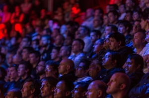 Photograph taken of audience members at TechEd conference