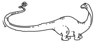 Female Brontosaurus design