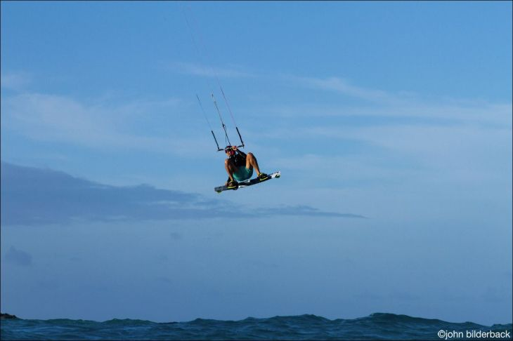 Me, helping my brain to perform better by enjoying my favourite sport of kitesurfing.