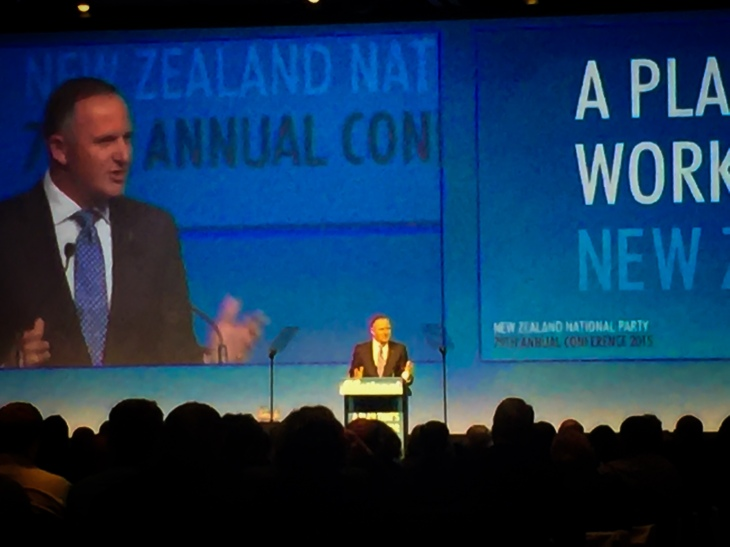 Prime Minister John Key announcing the Global Impact Visas at the National Party Conference today.